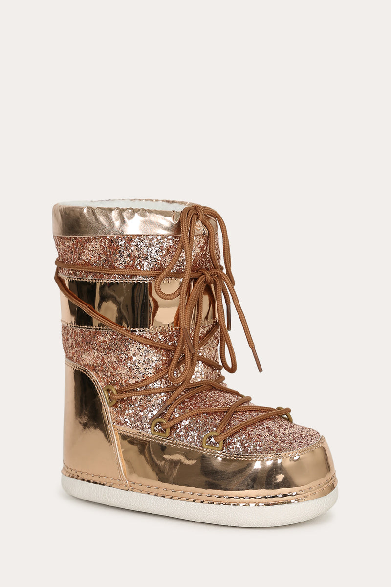Cape Robbin  Mb-11 Rose Gold Sparkly Moon Boots