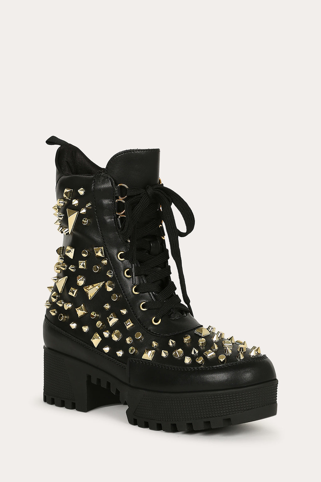 Cape Robbin Night Sky Black Studded Combat Boot