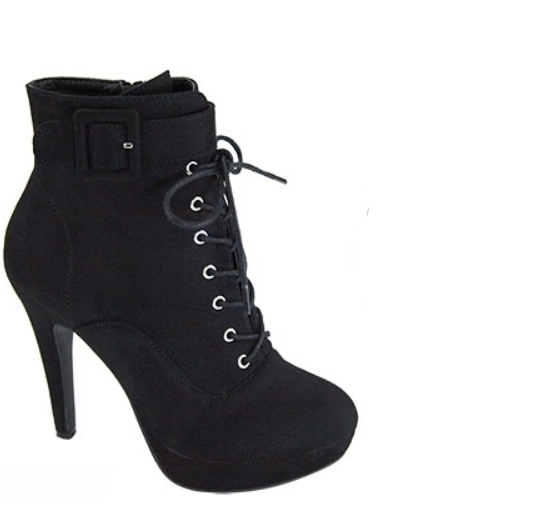 Nohemi Black Lace Up Booties
