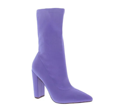 Liliana Nordic-2 Lilac Pointed Close Two Sock Heeled Bootie