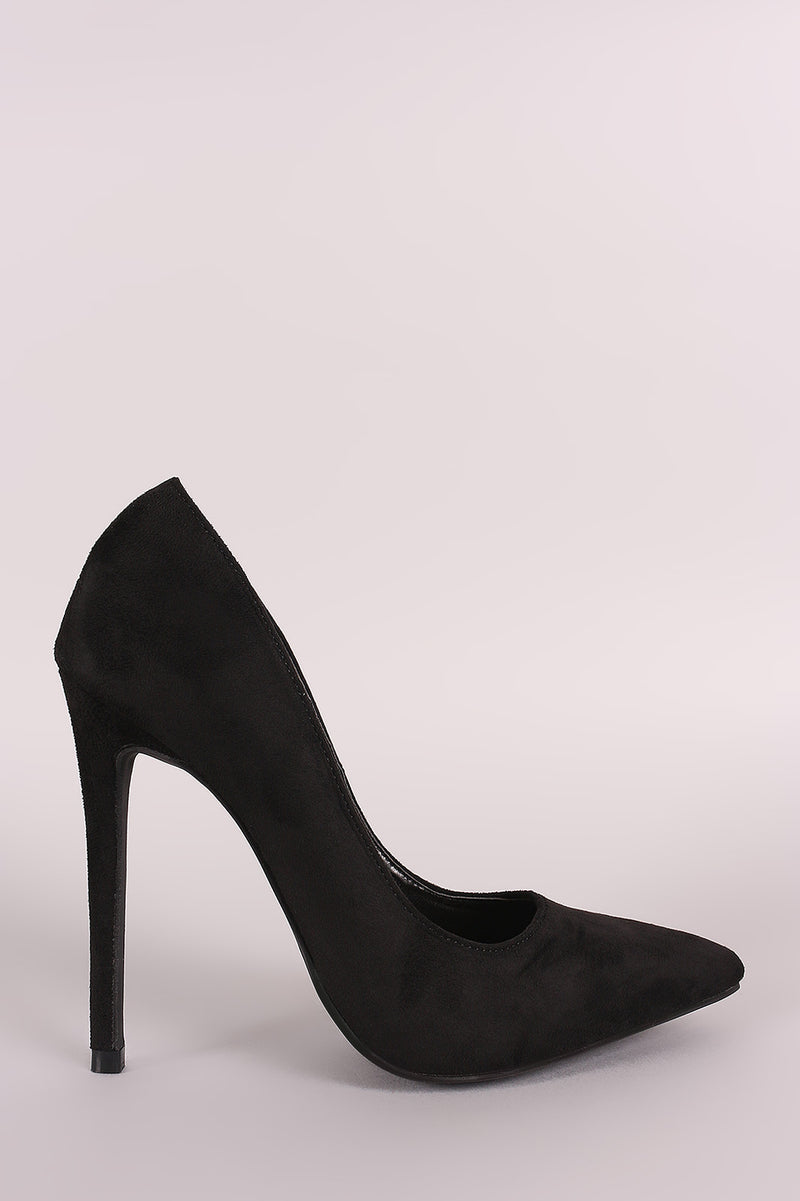 Copy of Red Cherry Ricky-5 Black Suede Pointed Toe Heel
