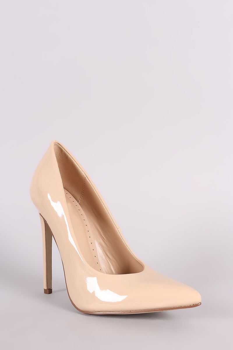 Red Cherry Ricky-6 Nude Pat Pointed Toe Pumo