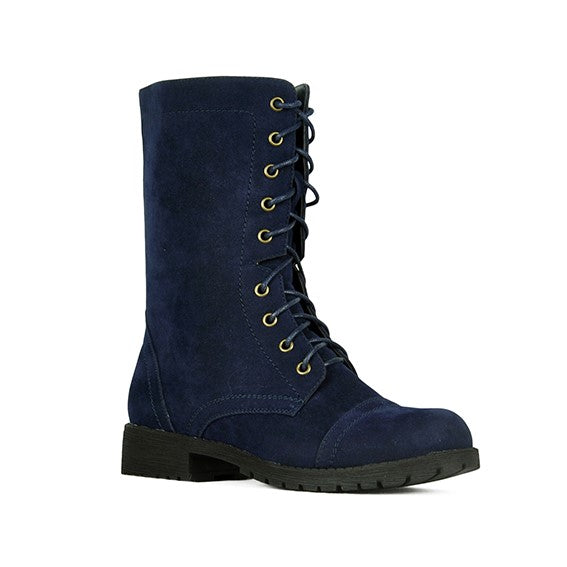 Refresh Libby-12 Classic Navy Combat Boots