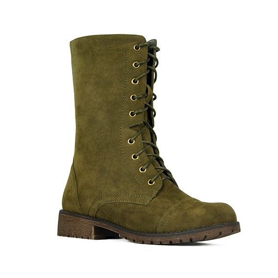 Refresh Libby-12 Classic Olive Combat Boots