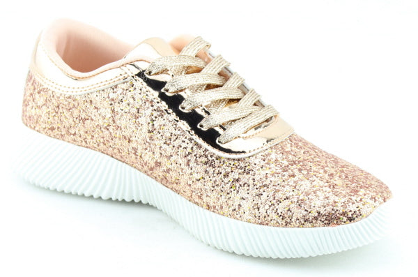b97d4b392c86 Nature Breeze Rosemarie-01 Rose Gold Sparkly Sneaker