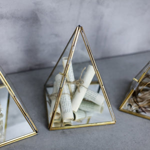 Brass Display Pyramids