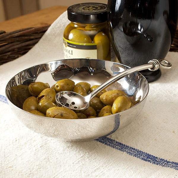 Olive Bowl And Polished Knot Olive Spoon Set