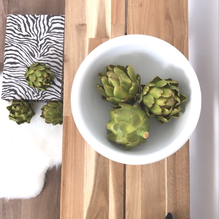 Green Artichoke Head(Set of 3)