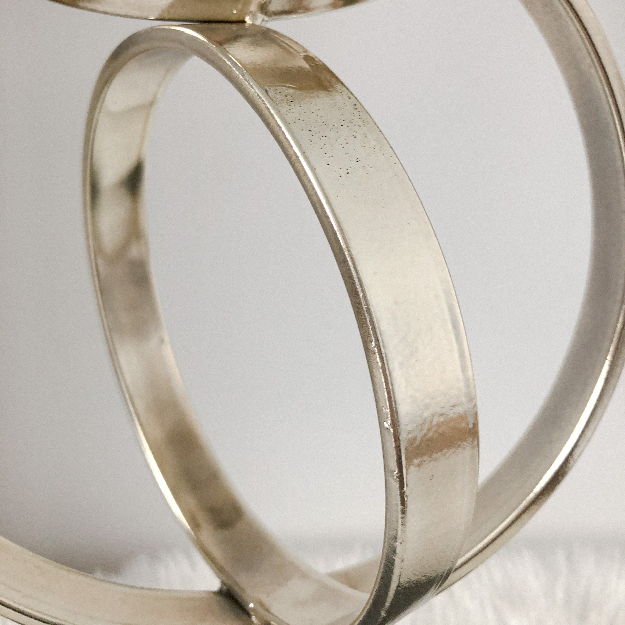 Silver-Gold Rings Sculpture