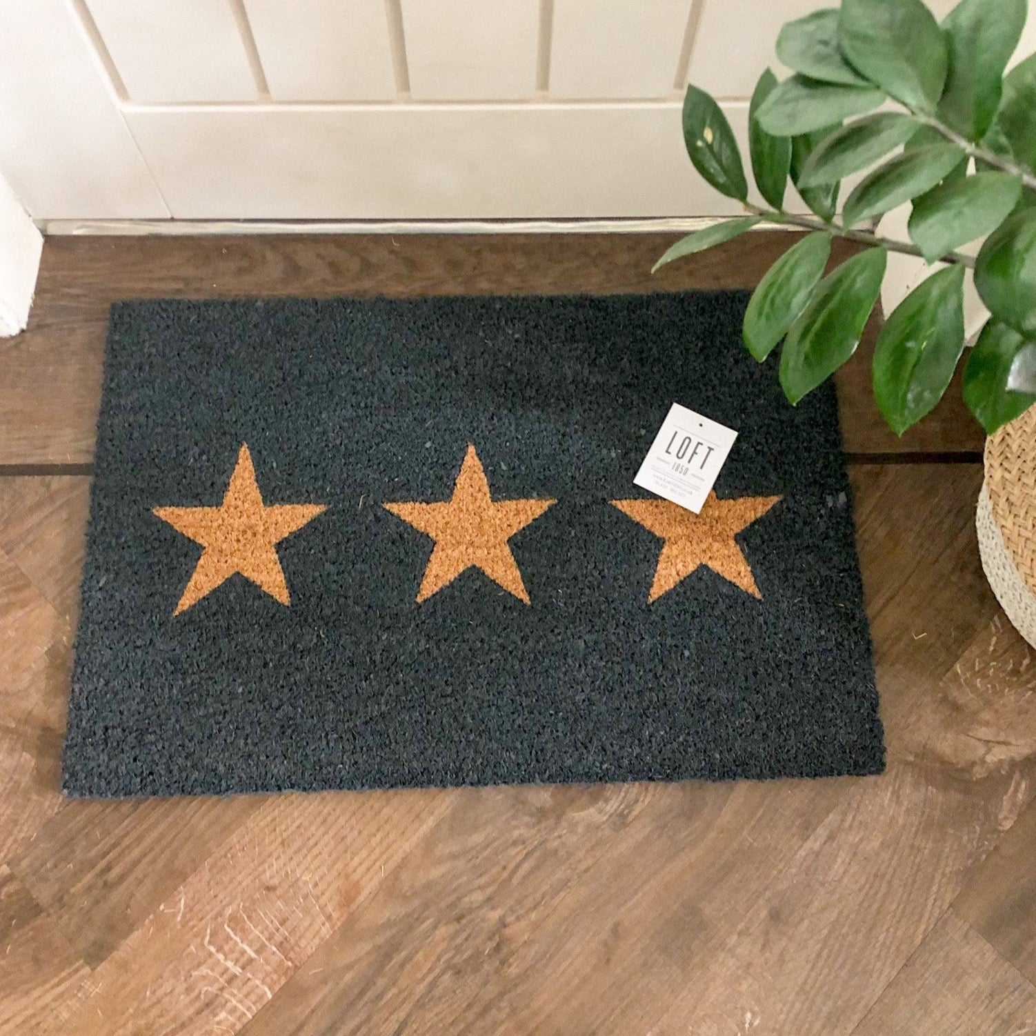 Small 3 Star Doormat in Charcoal