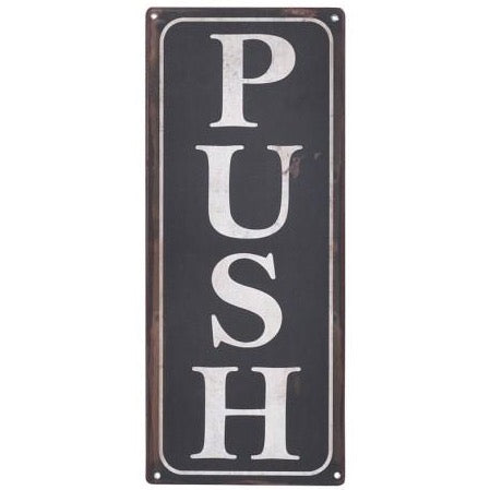 2-Sided Pull/Push Sign