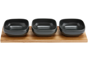 Snack & Dip Bowls With Platter