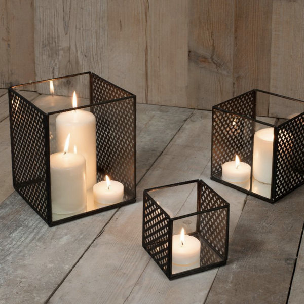 Baka Antique Black Square Lanterns