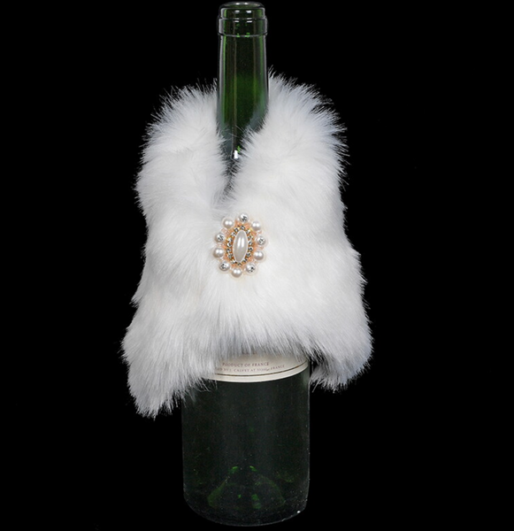 Faux Fur wine Coat - White