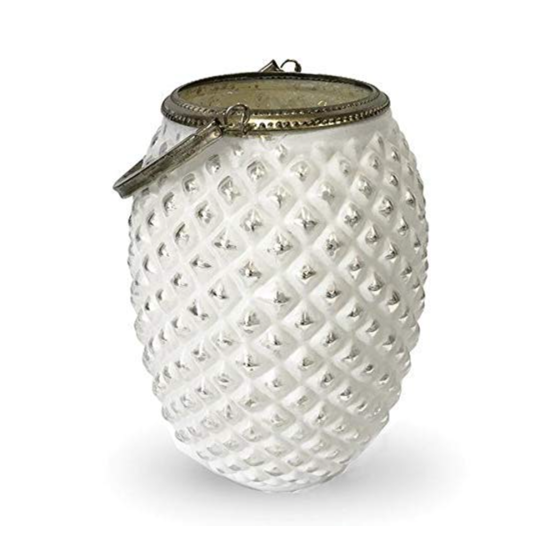 Tealight Lantern - Antique White Silver