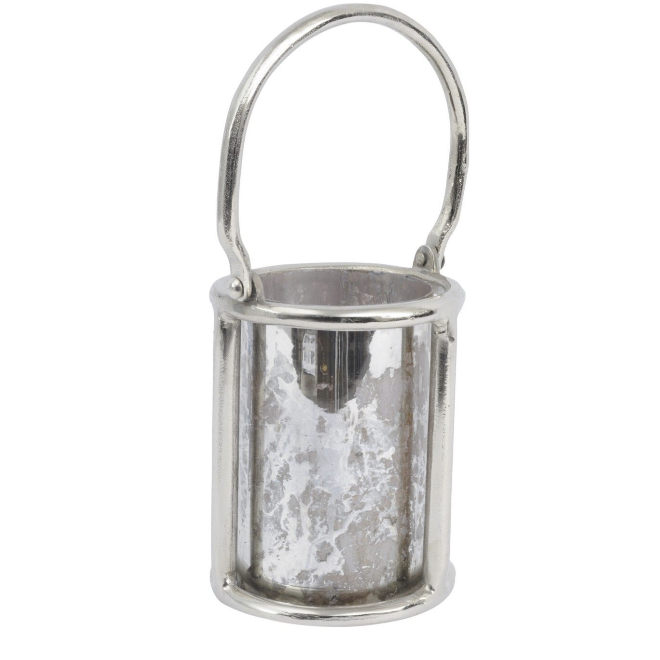 Silver Antique Glass Lantern
