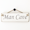 Wooden Rope Sign - Man Cave