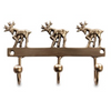 Stag Brass Hooks