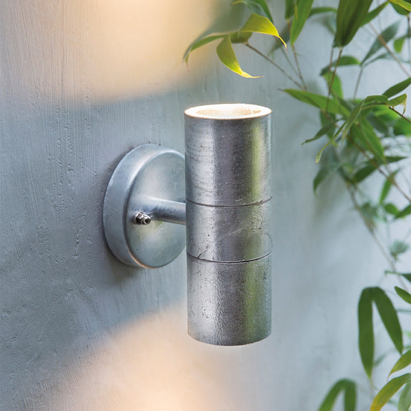 St Ives Up & Down Light in Galvanised Steel