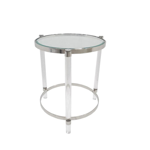 Small Art Deco Coffee Table With Acrylic Legs