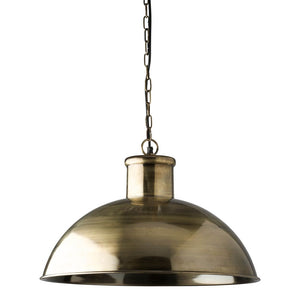 Spitalfield Pendant Light - Antique Brass Finish