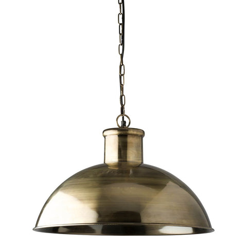 Spitalfield Pendant - Antique Brass Finish