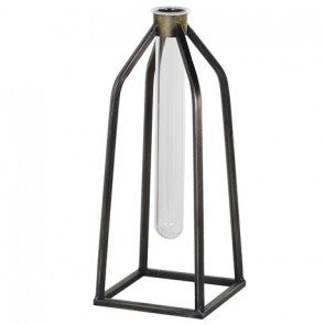 Industrial Single Test Tube Vase (black)