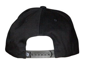 Black Pro baseball on-field shape cap with embroidered 90MS logo. Back View