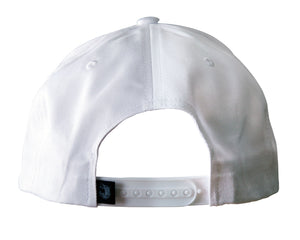 White Pro baseball on-field shape cap with embroidered 90MS graphic. Back view