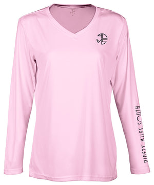 Ladies V-Neck | 90MS Round Logo Shirt