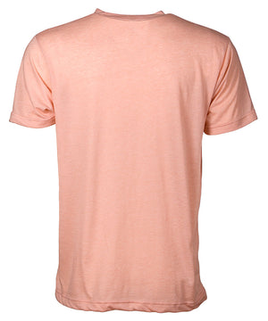 Back view of short sleeve heather peach tee shirt