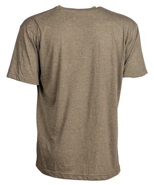 Back view of military green short sleeve tee shirt