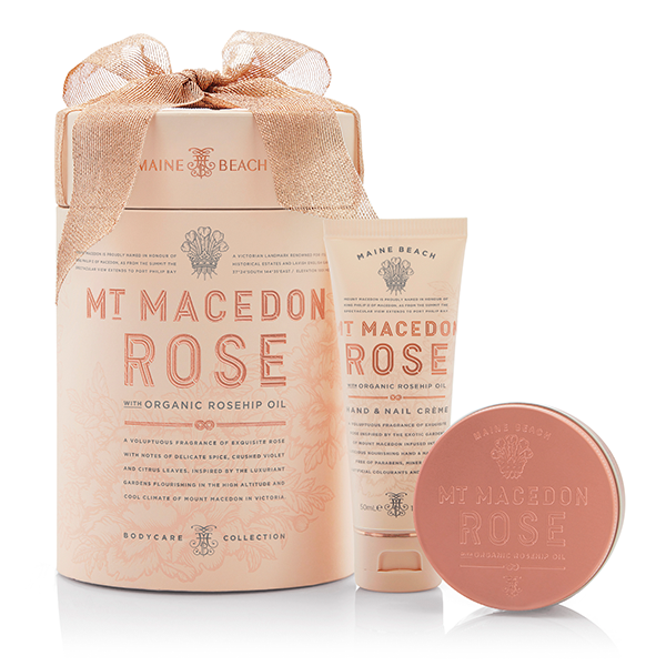 Duo Gift Box - Hand & Nail Crème - Body Mousse - Mt Macedon Rose