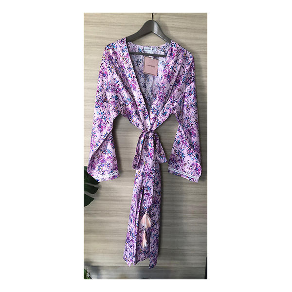 Saskia Robe - Pink Painterly Floral