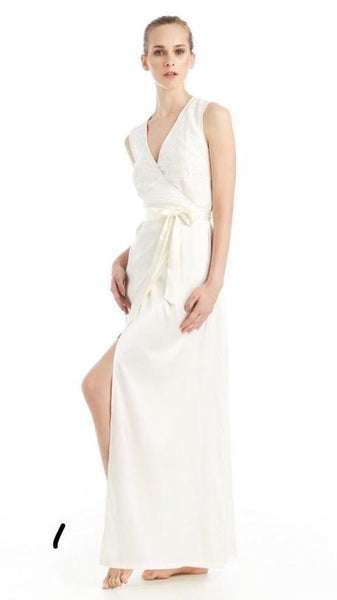 WRAP GOWN - BEETE - Creme