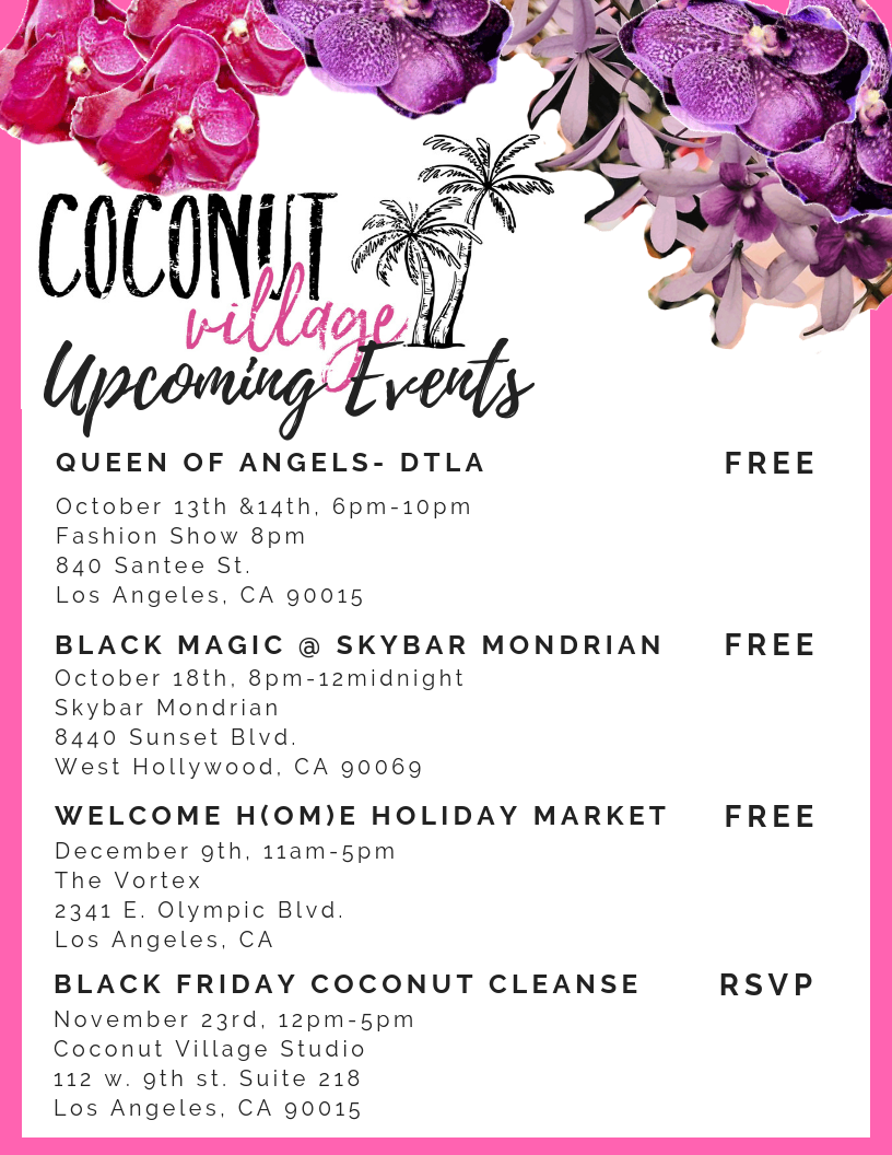 Coconut Village Event and pop-up Upcoming Events