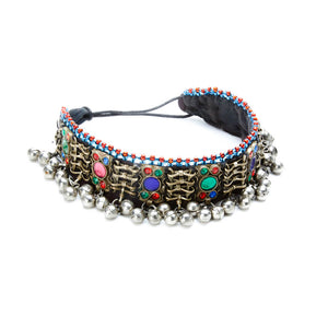 Lakhang Multi Color Choker with Jingle Beads and Stones