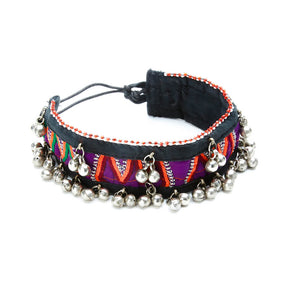 Xarmn Fabric Choker with Jingle Beads