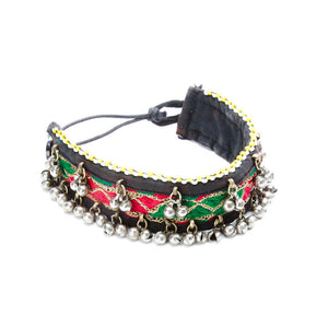 Sakha Fabric Choker with Jingle Beads
