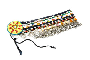 Leilani Multi Color Beaded Coin Belt with Jingle Beads and Stones