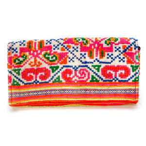 Chuang Multi Color Hmong Textile Wallet