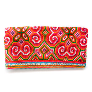 Fa Multi Color Printed Hmong Textile Wallet