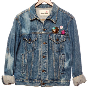 Sai Hung Distressed Vintage Festival Jacket with Upcycled Textiles