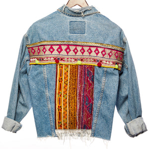 Aemnoa Festival Embroidered Denim Jacket Back