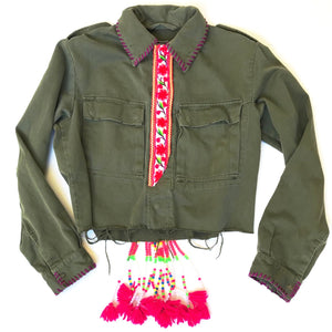 Natk Army Cropped Jacket