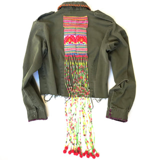 Khn Army Cropped Jacket