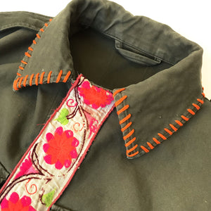 Krasae Army Cropped Jacket