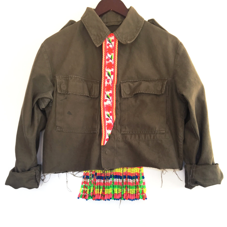 Rung Army Cropped Jacket
