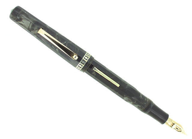 C1935 EVERSHARP BURMA PEARL DORIC #7 ADJUSTABLE NIB FOUNTAIN PEN RESTORED OFFERED BY ANTIQUE DIGGER