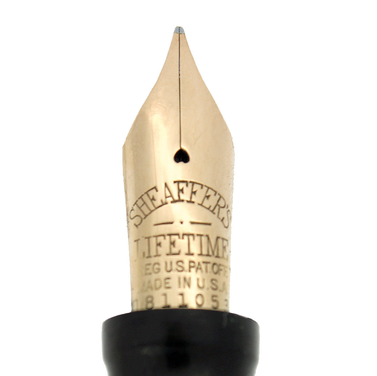 CIRCA 1935 SHEAFFER OVERSIZE BLACK & PEARL BALANCE FOUNTAIN PEN RESTORED NEAR MINT OFFERED BY ANTIQUE DIGGER